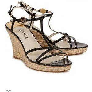 Michael Kors black wedge sandals ex. condition